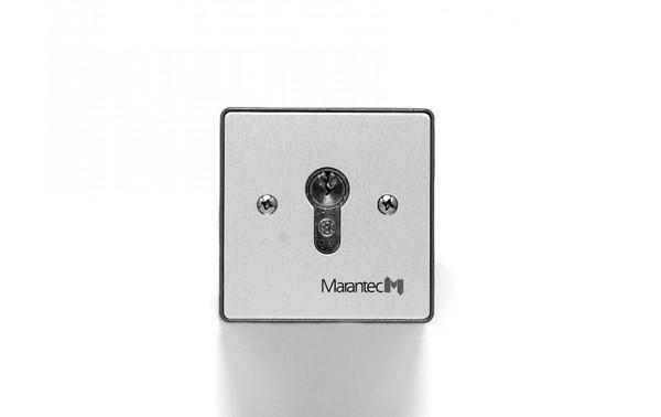 Command 314/414 Schlüsseltaster mit Aluminiumblende für Aufputz oder Unterputz