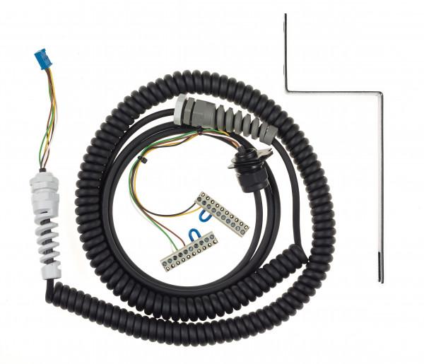 Spiralkabel 5x0,25 mm² - 3,0m für TBAD