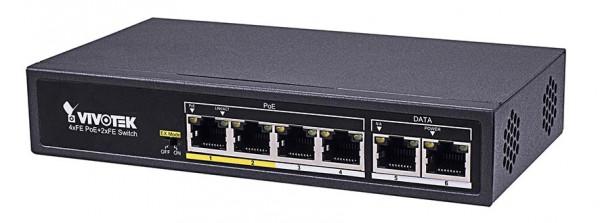 4-Port PoE-Switch 60 W für 4 LPR-Kameras