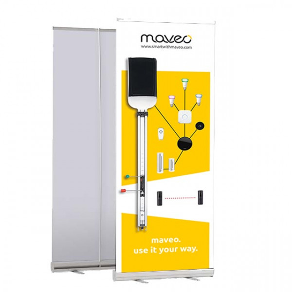Roll-Up maveo Systemübersicht